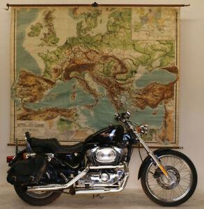 schoene-alte-Wandkarte-von-Mittel-Suedeuropa-Mittelmeer-220x180cm-vintage-1923