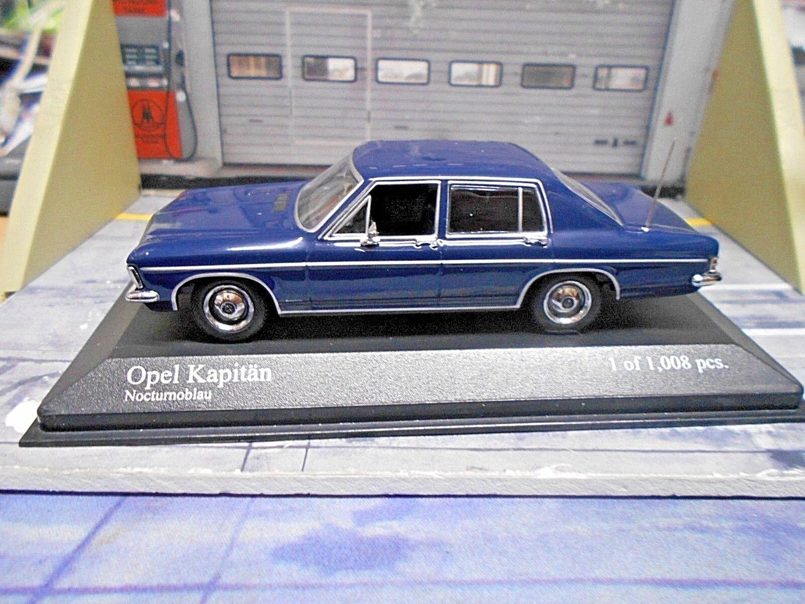 Opel Capitaine (comme diplomate) LIMOUSINE Bleu bleu 1969 Minichamps 1 43