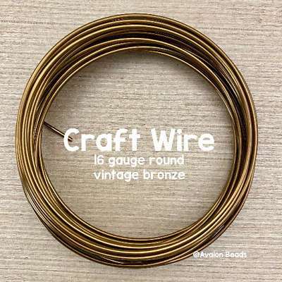 Craft Wire 21 Gauge Twisted Wire Twisted Square 21 gauge Vintage Bronze Color Wire 15feet 41803 Beadsmith Wire Bronze Wire Jewelry Wire