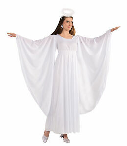 Adult Angel Costume White Gown Dress Size Standard