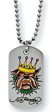 10 x Ed Hardy Jewellery Bulldog King, Dog Tag, Necklaces, JOB LOT x 10
