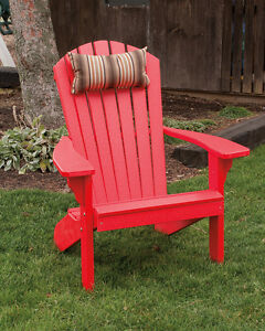 Poly Lumber Wood Folding And Reclining Adirondack Chair Bright Red Made In Usa