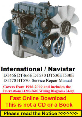 International DT466 DT466E DT530 DT530E I530E DT570 HT570 Service Repair  Manual | eBay