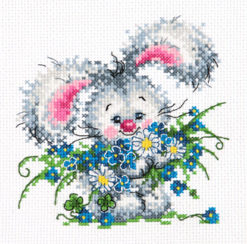 BUNNY art 18-61 KIT punto croce Happy Birthday