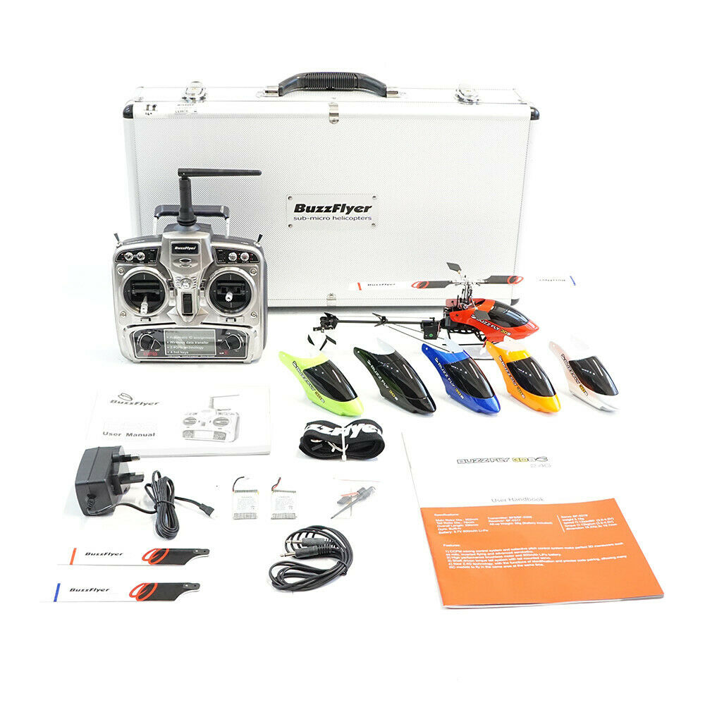 Buzz Fly 3DS RTF + Case Sub micro RC helicopter CNC redor Head (Walkera 4G6S)