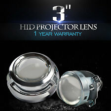 "3.0"" HID Bi-Xenon Projector Lens for H1 Bulb Car Gift:Chrome Shroud H4 H7"