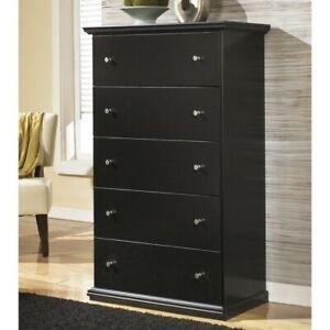 Ashley Furniture Maribel 5 Drawer Wood Chest In Black 24052009132 Ebay