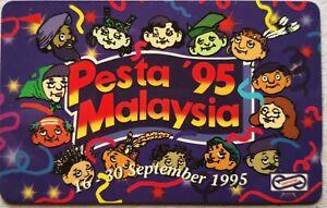 Malaysia-Used-Phone-Cards-Pesta-039-95-Malaysia