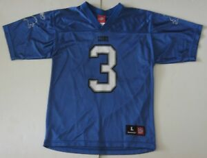 d7266a82e93 L Youth Reebok Joey Harrington Detroit Lions NFL Football Jersey ...