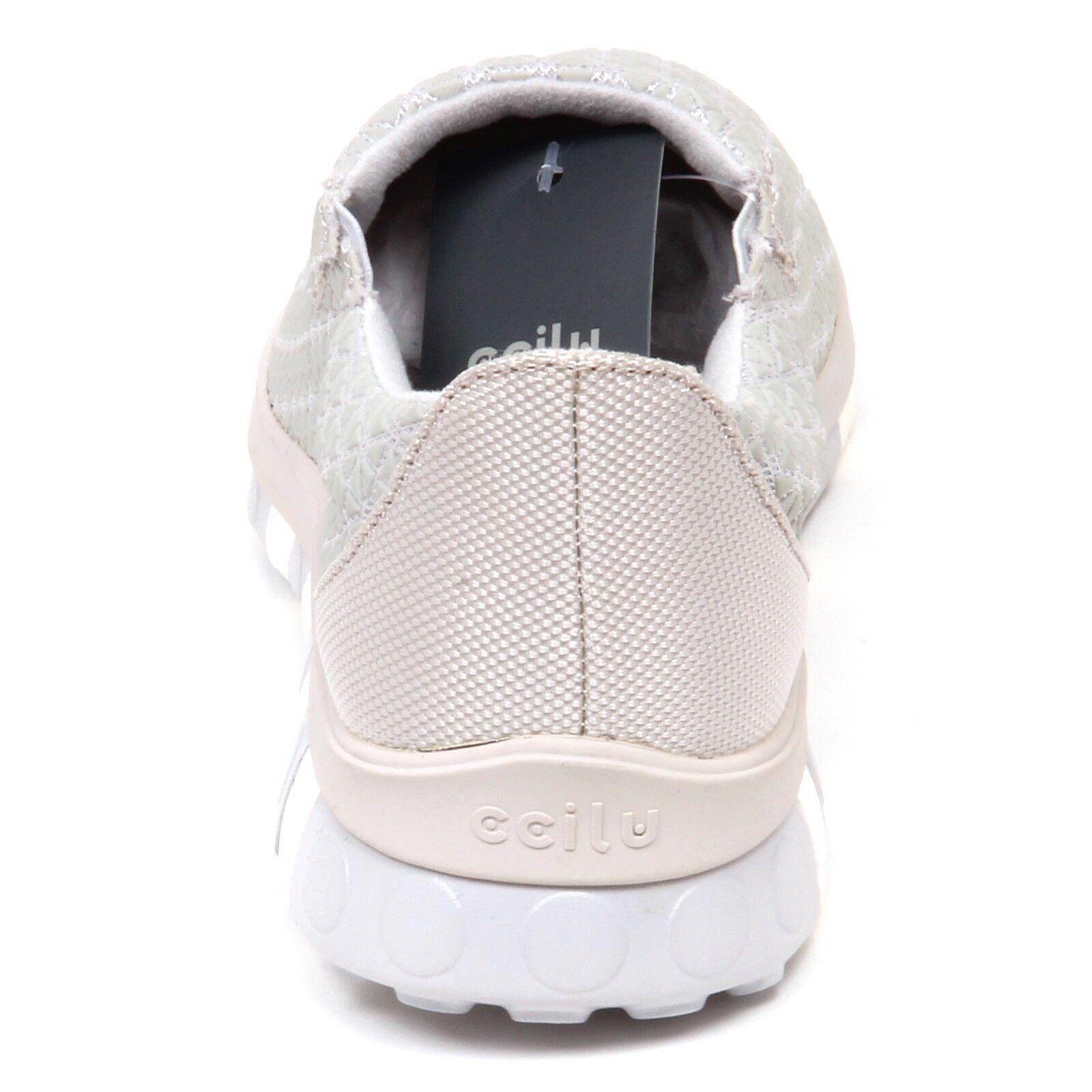 E8032 (WITHOUT BOX) sneaker uomo tissue/rubber CCILU grey slip on shoe shoe on man 4185e2