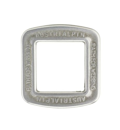 "Polished AustriAlpin 25mm Square Ring 1/"" Frame Buckle Chrome FC05A"