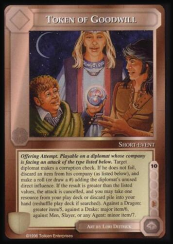 MECCG CCG Middle-earth Token of Goodwill Dark Minions DM MINT