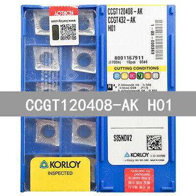 10pcs CCGT120408 AK H01 CNC Carbide Insert Blades For Aluminum