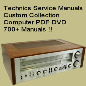 TECHNICS SERVICE MANUAL RECEIVER TUNER AMP REPAIR STEREO AMPLIFIER  DVD
