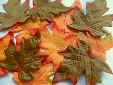 18 Artificiale Seta Tessuto Autunno Acero Foglie 3 assortiti colori Craft Decorazione