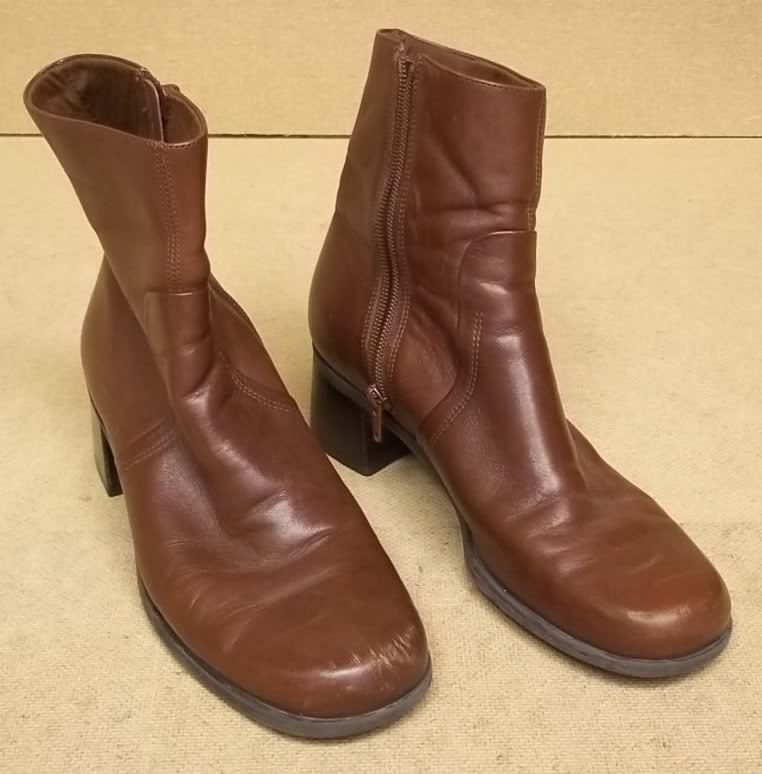 Naturalizer Womens Ankle Boots Leather Female Adult 9M Brown Solid S37