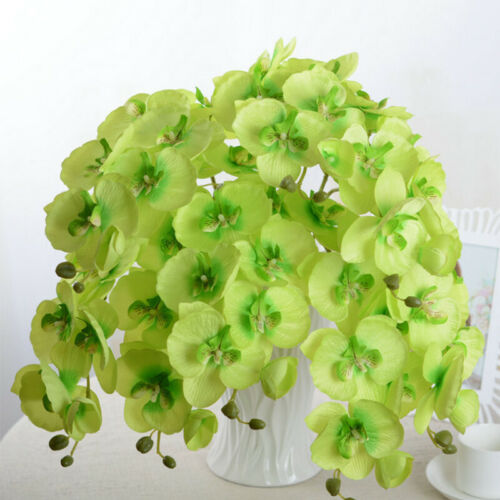 Artificial Butterfly Orchid Bouquet Phalaenopsis Silk Flowers Wedding Home Decor