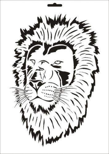 Wandschablone Maler T-shirt Schablone W-074 Löwe ~ UMR Design