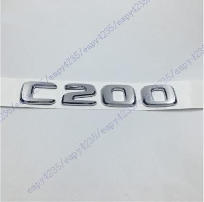"2018 /""C200/"" High Quality Silver flat Rear Trunk Emblem Badge FOR Mercedes Benz"