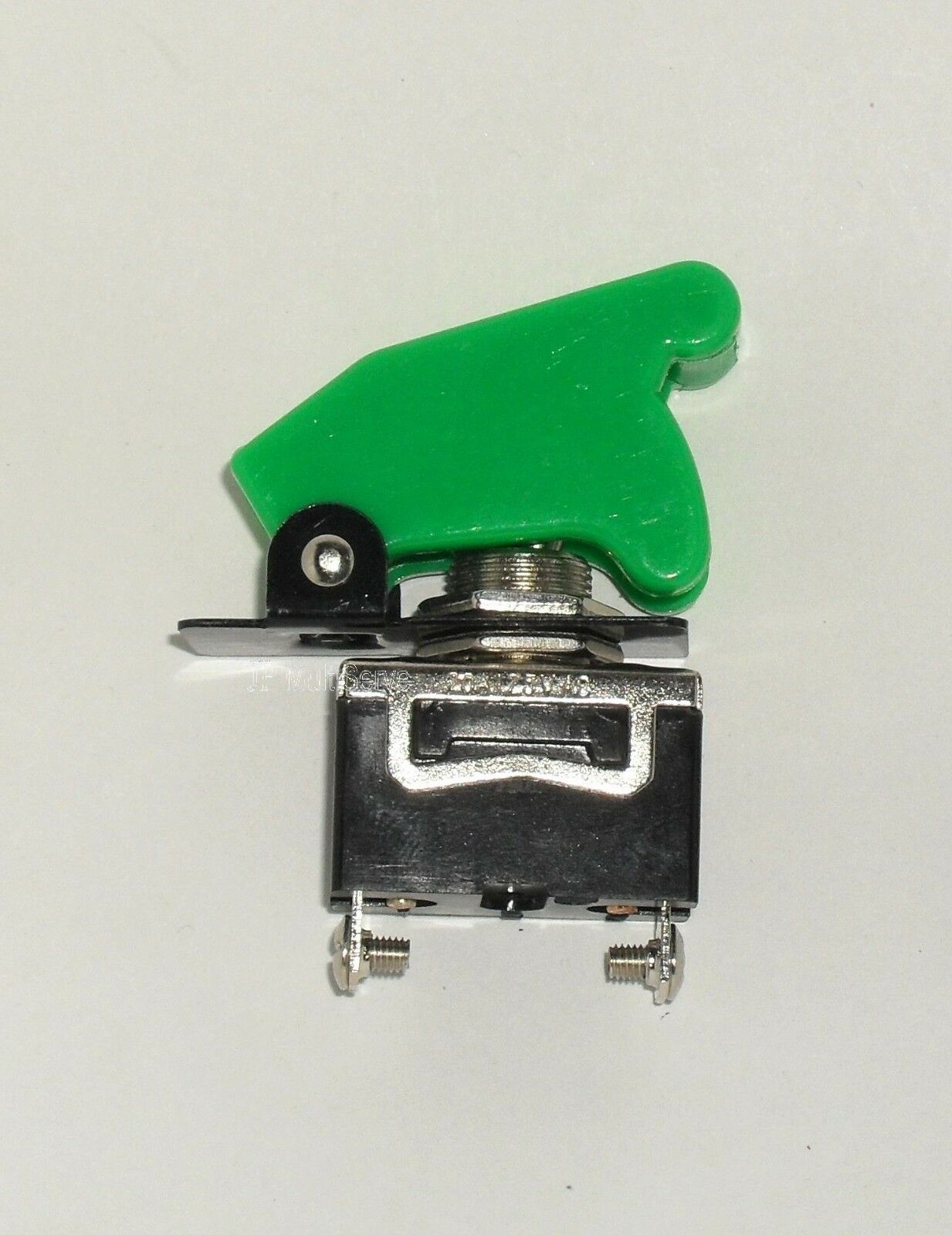 1 SPST On/Off Full Size Toggle Switch with GREEN Safety Cover