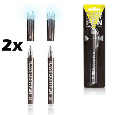 2 X LED Flashlight Torch Pen Penlight Bright Light For Doctors Nurses Work Gift