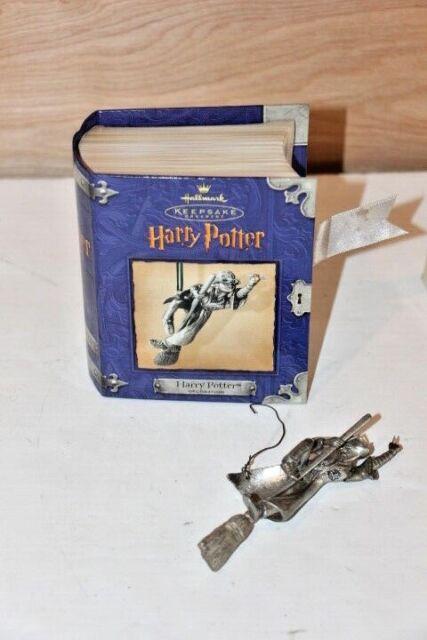 2000 Hallmark Keepsake Ornament Harry Potter Pewter Harry Potter in Box Flying