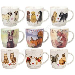 Churchill-Alex-Clark-Squash-Shaped-Mug-Animals-Cat-Dog-Wildlife-Mugs
