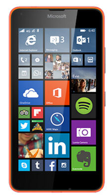 BRAND NEW Microsoft Lumia 640 LTE - 8GB - Orange SIMFREE (Unlocked) Smartphone