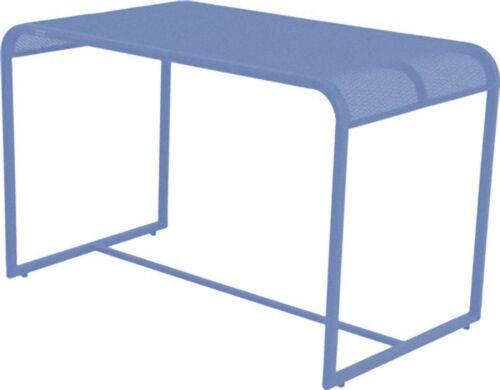Metall Balkontisch 110x63 Beistelltisch Garten Balkon Terrasse Tisch blau