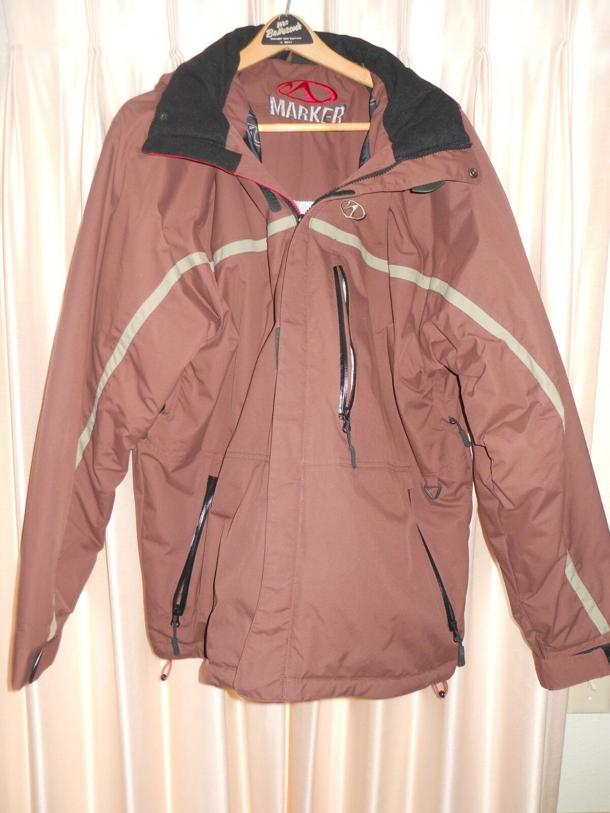 XL maroon Marker mens ski coat, Excellent used cond.