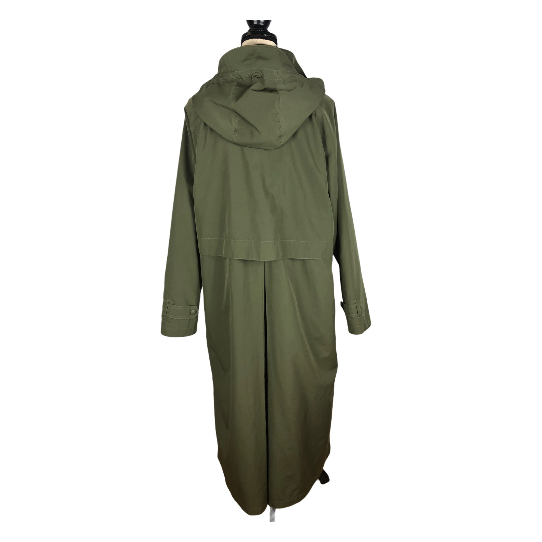 L.L. Bean Olive Green Wool Liner Trench Coat     … - image 3