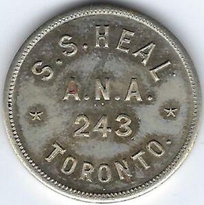 ONTARIO-Toronto-S-S-Heal-Numismatist-McColl-American-Numismatic-Assoc-Inv-1742