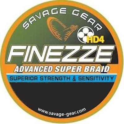 SAVAGE GEAR FINEZZE HD4 ADVANCED SUPER BRAID FISHING LINE GREY PIKE PREDATOR