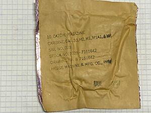 M1 CARBINE, Mag Catch D , original pakage part, UNISSUED, GI