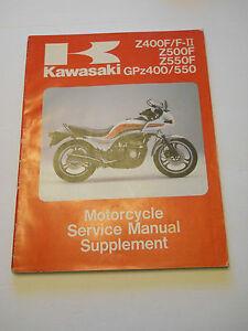 Kawasaki Z400f Z500f Z550f Gpz400  550 1983