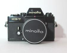 MINOLTA XE-7 BLACK 35 mm FILM SLR CAMERA & 35 / 2.8 LENS