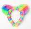 Childrens Girls Kids Rainbow Faux Fur Teddy Bear Cat Ears Headband Alice Band