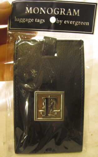 "Monogram luggage tag initial ""F"" new"