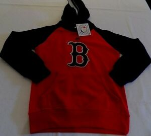 finest selection e8281 38e1c Details about Boston Red Sox Youth Hoodie Youth Small Red Navy Trim  Embroidered Majestic MLB