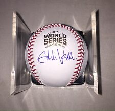 Eddie Vedder Autograph Signed 2016 Rawlings World Series And Cube Pearl Jam