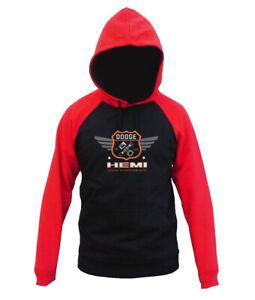 Men/'s Ram Hemi Raglan Hoodie sweater Car Truck offroad Racing Dodge Challenger