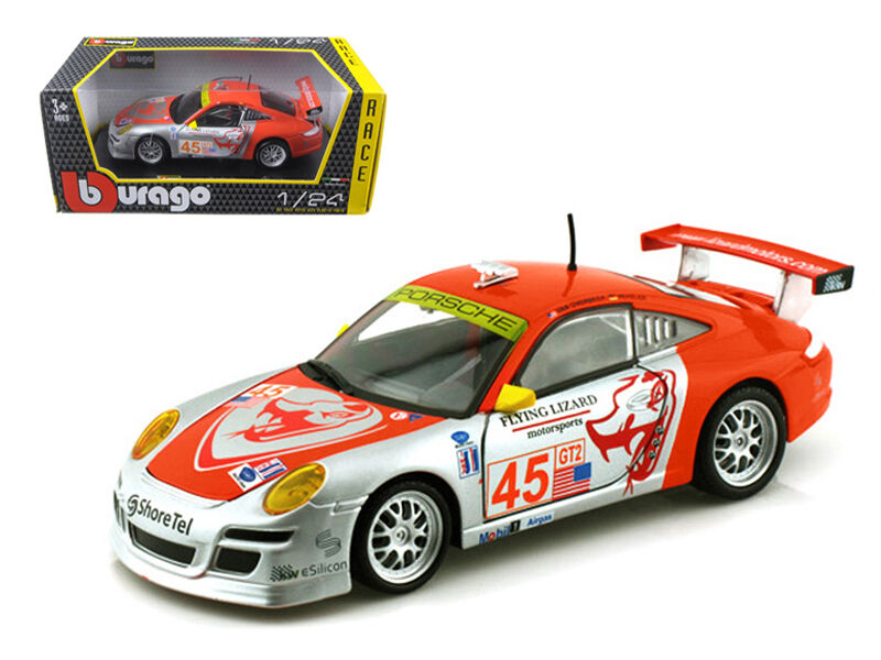 Porsche 911 GT3 RSR  Flying Lizard  1 1 1 24 Diecast Model by Bburago 28002sr a83b03