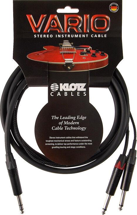 Klotz Vario Stereo Guitar 6,0 Meter - Stereo Klinke - 2xMono Klinke