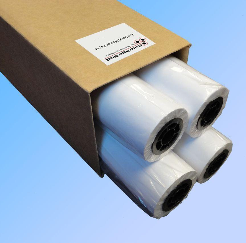 20lb Bond Plotter Paper with 2 core. 4 Rolls 30 x 150 30-inch-x-150-foot Inkjet Plotter Paper 20 lb