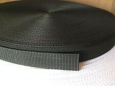 45 metros 20mm cinta De Cincha De Nylon Negro