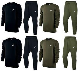Nike Mens Tracksuit Pants Crew Sweat shirt Top Fleece Joggers Training Club Air