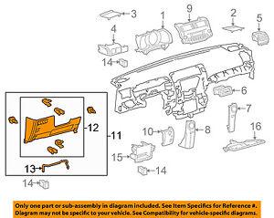 TOYOTA-OEM-10-13-4Runner-Instrument-Panel-Dash-Lower-Trim-Panel-5504560050E1