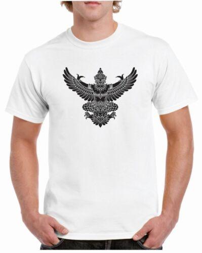 Indian Flying God Chest Logo T-shirt Garuda Hindu Buddhist Fashion Tshirt