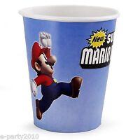 (8) Super Mario Brothers 9oz Paper Cups Birthday Party Supplies Luigi Nintendo