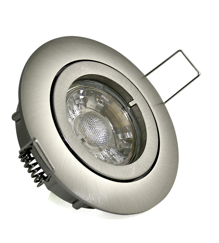 Rostfreie Einbauleuchten Bajo K9451 IP20 & 7W COB LED Leuchtmittel 230Volt Gu10